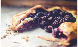 Lemon Marscapone Black Berry Galette