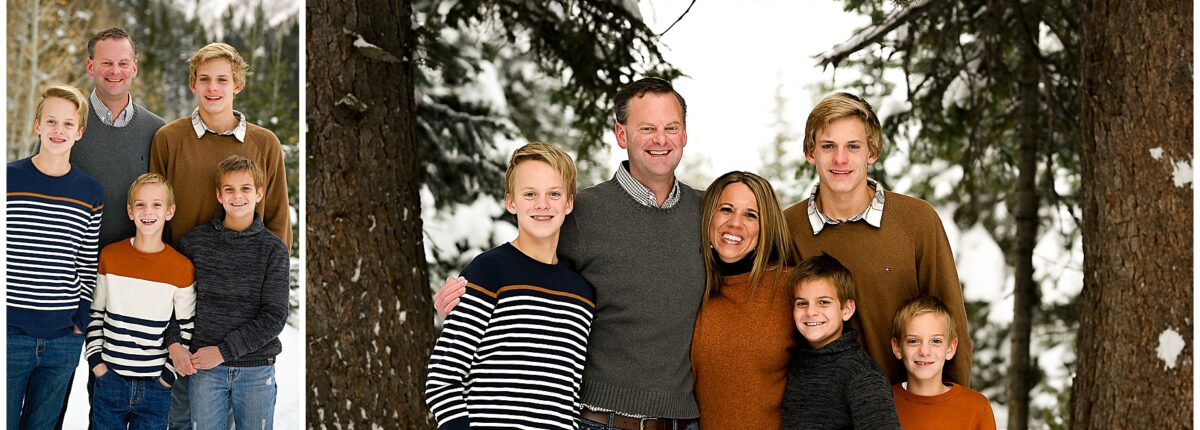 Winter Family Photoshoot in Big Cottonwood Canyon